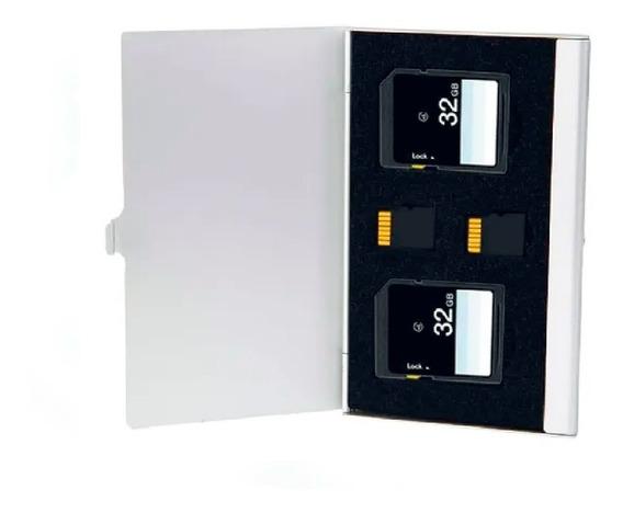 Case De Alumínio 4 Em 1 Cartão 2 Sdhc/ 2 Microsd