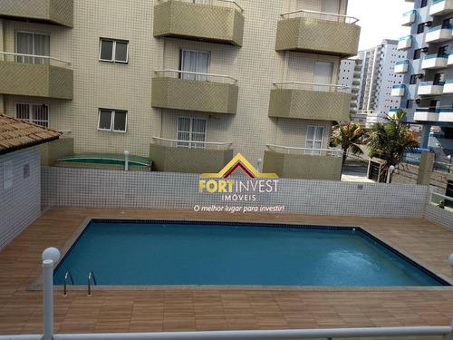 Apartamento Com 1 Dormitório À Venda, 56 M² Por R$ 220.000,00 - Vila Assunção - Praia Grande/sp - Ap1728