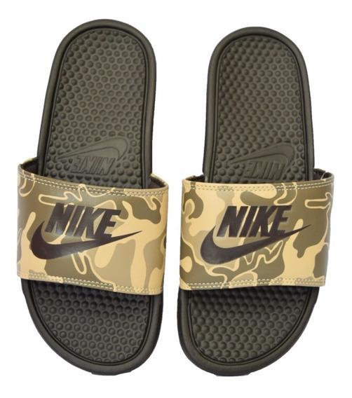 Ojotas Nike Benassi Jdi Print Camuflado Militar