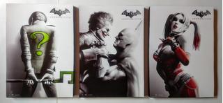 Cuadros Decorativos Batman Arkham City Tríptico