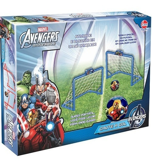 Chute A Gol Avengers C/ Bola Líder Brinquedos