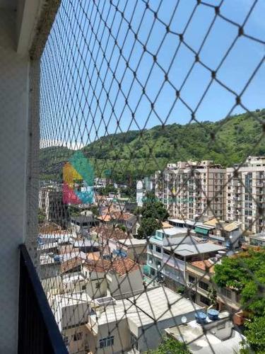 Imagem 1 de 15 de Luxuoso Apartamento Sala-quarto No Riachuelo, Com Infra, Varanda E Vaga Na Escritura. - Boap10498