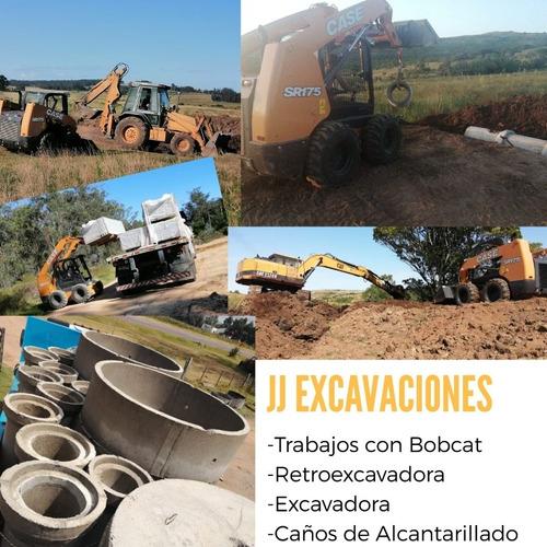 Excavadoras, Retroexcavadoras,bobcat, Caños De Hormigón.