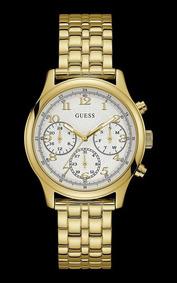 Relógio Guess Feminino Dourado Com Cristais 92671lpgsda2