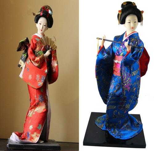 Muñeca Figura Japonesa Geisha Decoracion Regalo Intercambio
