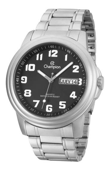 Relógio Champion Masculino Ca30927d Esporte Fino Prateado