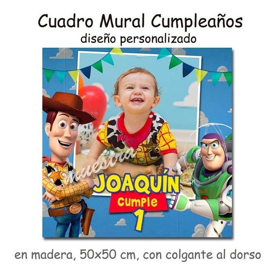 Cuadro Mural Personalizado Tus Fotos Cumpleaños Toy Story