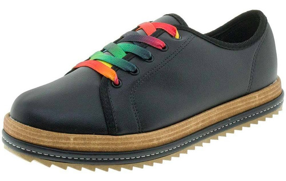 Sapato Feminino Multi/preto Beira Rio - 4196204