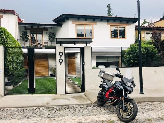 Casa 450m2 En Privada Con Seguridad, A 7 Min. De Santa Fe