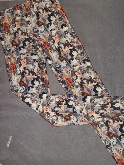 Pantalones Tipo Calzas Estampadas.