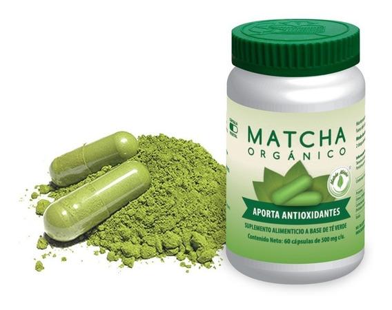 Cápsulas De Té Verde Matcha Orgánico 60 Cap Veganas