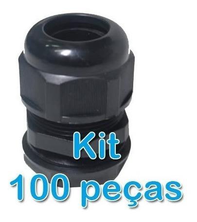 Kit 100 Peças - Prensa Cabo
