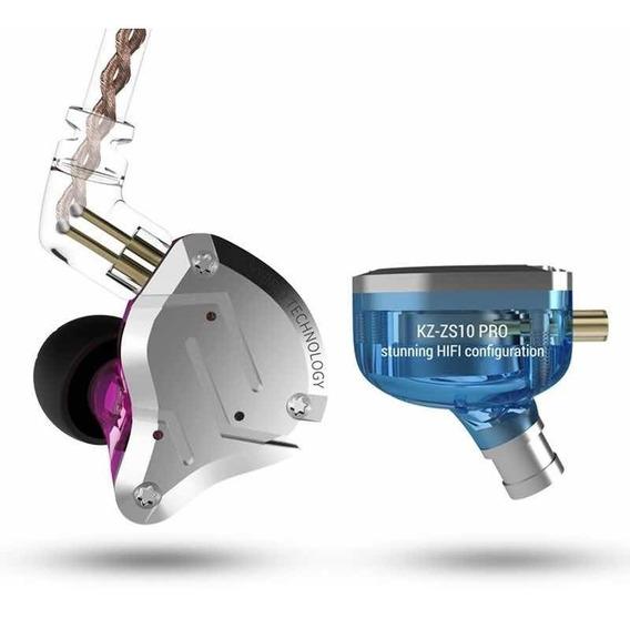 Fone In Ear Zs10 Pro 10 Drive Kz + Bag Retorno De Palco
