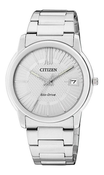 Reloj Citizen Eco Drive Original Cara Plata Aw12105-8a1