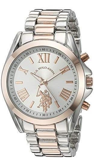 Reloj De Mujer Ralph Lauren Polo Plateado Y Rosa
