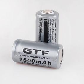 2x Baterias 3.7v De Lítio Recarregável 16340 Cr123a Lanterna