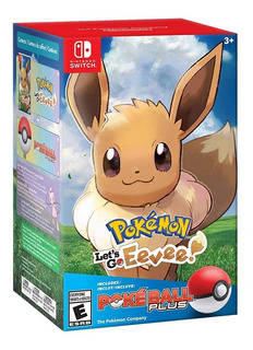Pokemon Lets Go Eevee Bundle Pokeball Plus Nintendo Switch