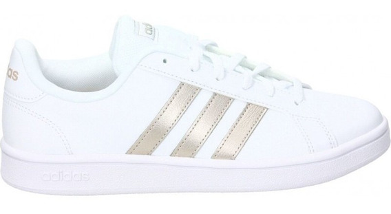 Tenis adidas Grand Court Base Blanco/rosa Ee7874