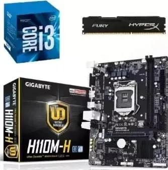 Kit Gamer H110m-h + Intel Core I3 7100 + Mem 8gb Kingston