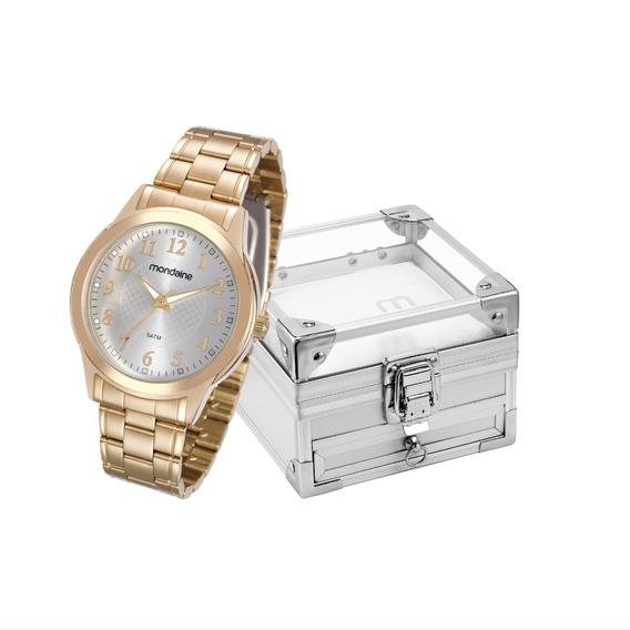Relógio Mondaine Feminino + Porta Jóias 83341lpmvde1k1