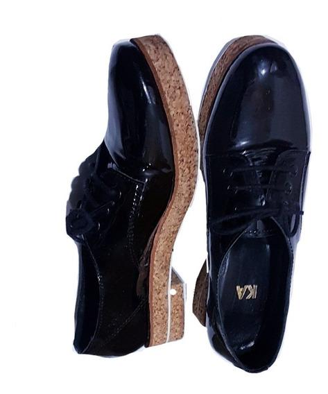 Zapato Mishka- N°35/36- Prune- Grimoldi- Vitamina- Xl- Zara