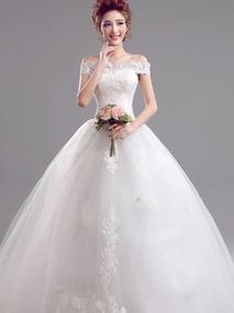 89dcdab864 Hermoso Vestido Novia Ajustable Con Envio Gratis W-5956