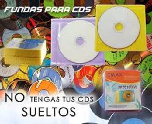 Fundas Plásticas Cd Dvd Blu Ray 50 Unidades