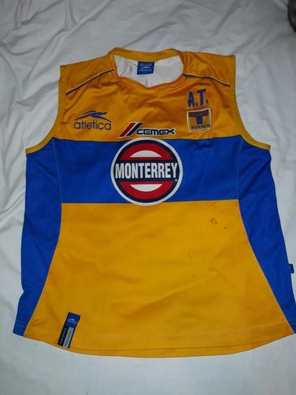 Camiseta Musculosa Entrenamiento Ca Tigre Mexico Atletica M