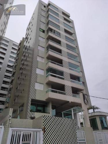 Apartamento Com 2 Dormitórios À Venda, 81 M² Por R$ 320.000 - Aviação - Praia Grande/sp - Ap2702