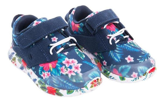 Zapatilla Flower Power Azul Stepps