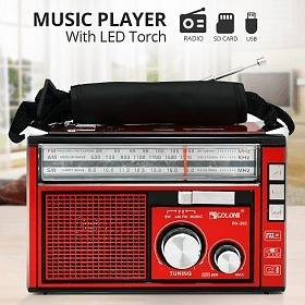 Radio Vintage Usb/sd Card Radio Am/fm Com Lanterna