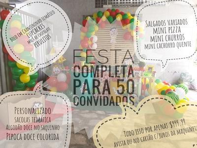 Festa Completa Para 50 Convidados
