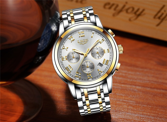 Relógio Quartzo Prova D Água Original Na Caixa Com Garantia