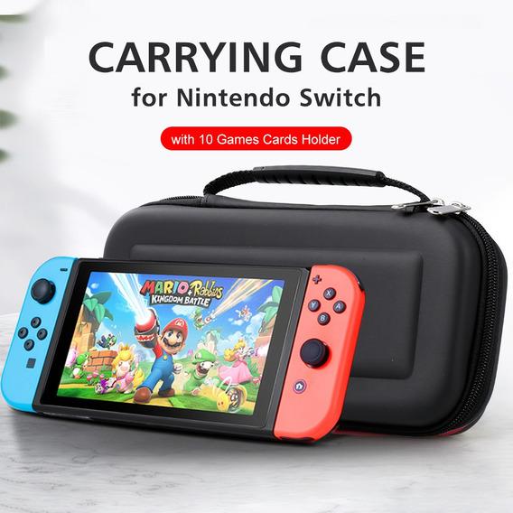 Estojo De Transporte Para Nintendo Switch Com Suporte De 10