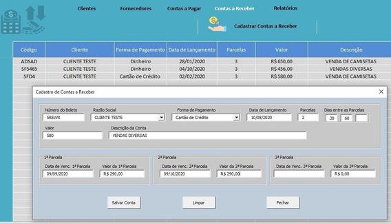 Planilha Controle Financeiro (frete Gratís)