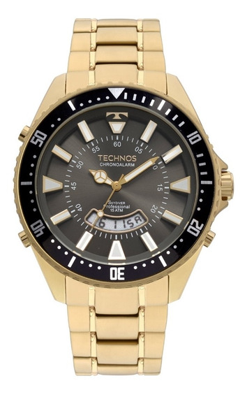 Relógio Masculino Technos Skydiver Dourado T205ji/4c