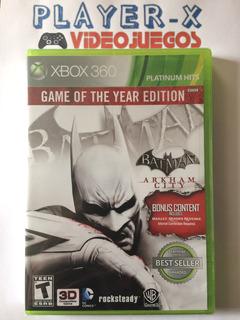 Batman Arkham City Game Of The Year Xbox 360 Nuevo Sellado
