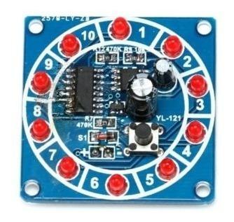 Kit Para Montar Roleta Eletrônica 10 Leds Com Cd4017 / Ne555