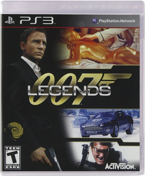 007 Legends James Bond Ps3 Original Completo Mídia Física