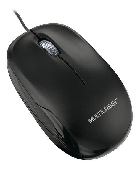 Mouse Multilaser Box Óptico Fio Plug&play Usb Preto Mo255