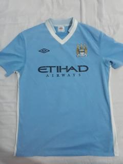Camisa Manchester City I Umbro 11/12 Original Usada