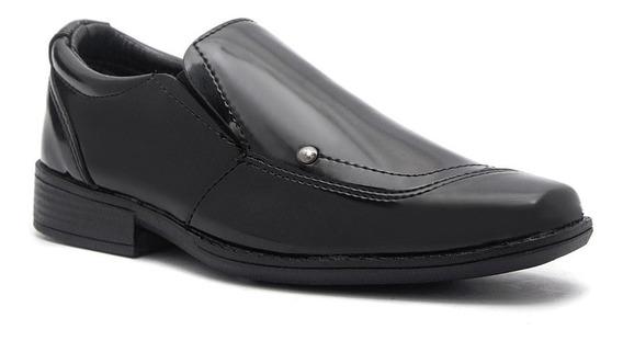 Sapato Social Infantil Masculino Couro Ecológico 05