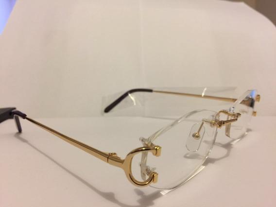 Cartier Lentes Marcos Titanio Óptica Optometria