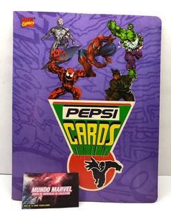 Album Marvel Comics Pepsi Card Reimpresion Del Año 2000 Marv