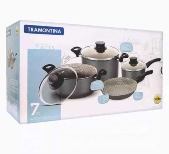 Set De Ollas Tramontina Paris X 7 Pc. Starflon T1 Oferta!!!