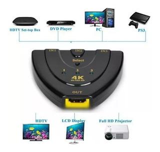 Hdmi Switch 4k , 3 Puertos 4k Hdmi Switch Splitter 3 En 1