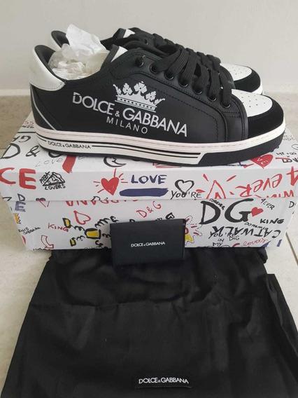 Tenis Dolce & Gabbana Roma Con Print ..actual Coleccion.