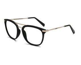 d42039cbc Armação Oculos Grau Colcci Mag C6113a7053 Preto Fosco Dourad