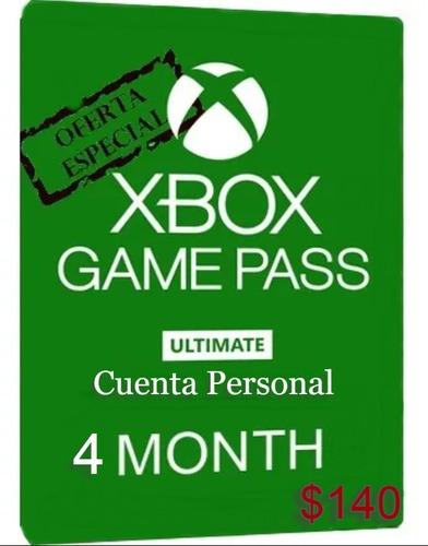 Imagen 1 de 1 de Xbox Game Pass Ultimate 4 Meses + Gold *no Código* *oferta*