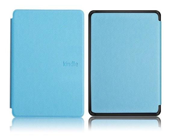 Capa Case Novo Kindle 10ª G. Azul Claro + Película + Caneta Touch